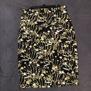 Banana Republic Floral Print Pencil Skirt SZ 2P